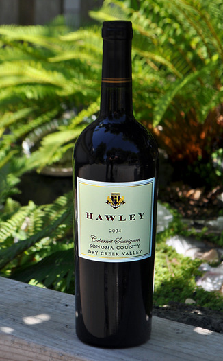 Hawley Winery and Vineyards 2004 Dry Creek Valley Cabernet Sauvignon 750ml Wine Bottle