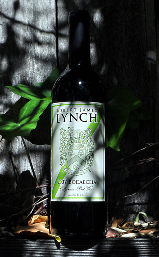 Robert James Lynch 2007 Bodaeceia Red Bordeaux Style Blend 750ml Wine Bottle