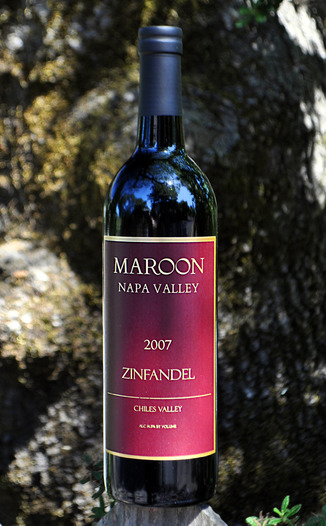 Maroon Wines 2007 Maroon Vineyard Zinfandel 750ml Wine Bottle