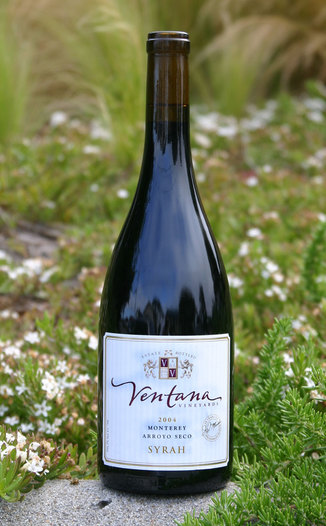 Ventana Vineyards 2004 Syrah 750ml Wine Bottle