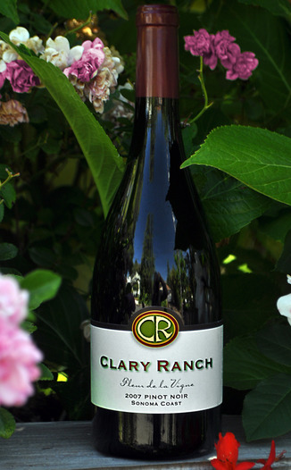 Clary Ranch Wines 2007 'Fleur de la Vigne' Pinot Noir 750ml Wine Bottle