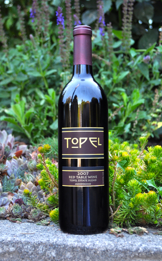 Topel Winery 2007 Red Table Wine 750ml Wine Bottle