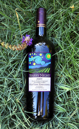 Starry Night Winery 2009 Nervo Station Old Vine Zinfandel 750ml Wine Bottle