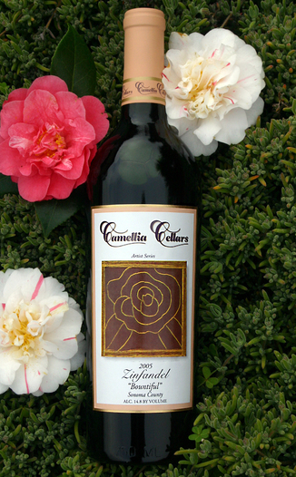 "Camellia Cellars 2005 Zinfandel ""Bountiful"" 750ml Wine Bottle"
