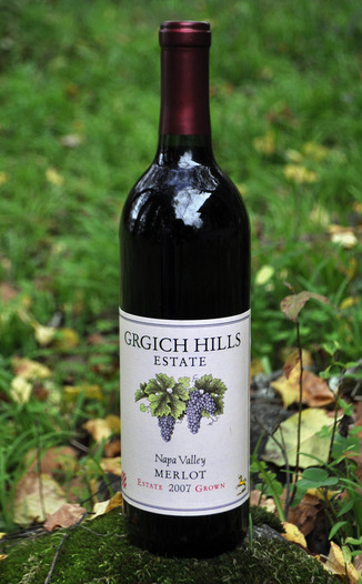 Grgich Hills Estate 2007  Estate Merlot 750ml Wine Bottle