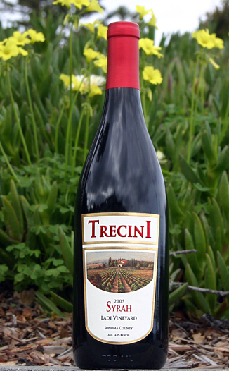 Trecini Cellars 2005 Somona County Syrah 750ml Wine Bottle