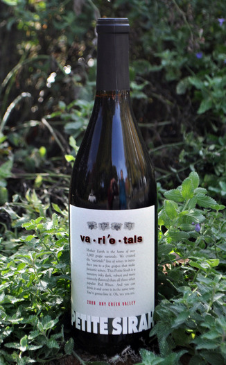 Varietals 2009 Dry Creek Valley Petite Sirah 750ml Wine Bottle