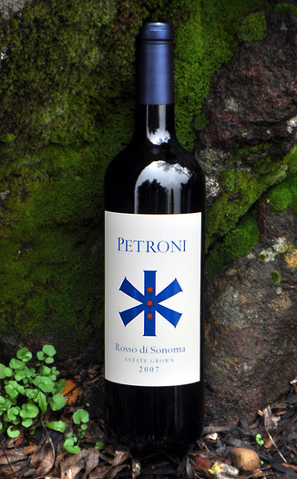 Petroni Vineyards 2007 Rosso di Sonoma 750ml Wine Bottle
