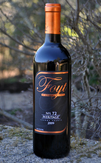 Foyt Family Wines 2009 No.72 Meritage 750ml Wine Bottle