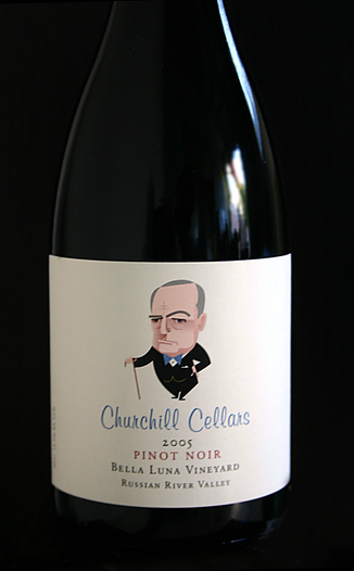 Churchill Cellars 2005 Bella Luna Pinot Noir 750ml Wine Bottle