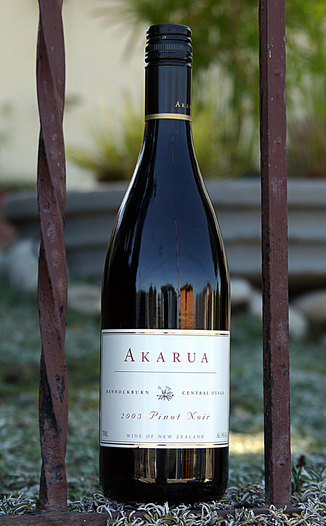 Akarua 2003 Pinot Noir 750ml Wine Bottle