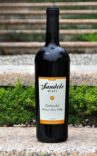 Sandole Wines 2008 Russian River Valley Zinfandel 750ml Wine Bottle
