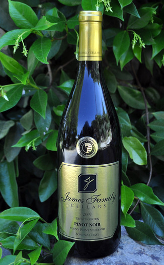 James Family Cellars 2009 Stony Pinot Vineyard Pinot Noir  750ml Wine Bottle
