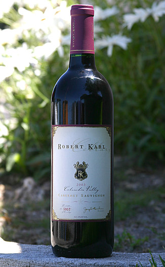 Robert  Karl Cellars 2003 Cabernet Sauvignon 750ml Wine Bottle