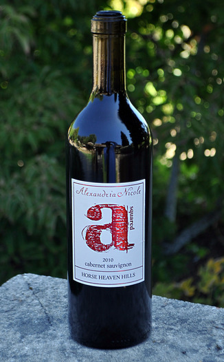 Alexandria Nicole Cellars 2010 A Squared Cabernet Sauvignon 750ml Wine Bottle