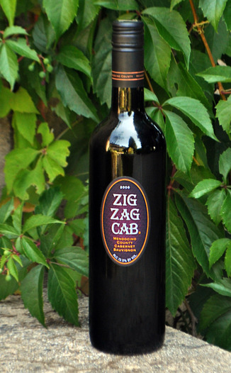 Mendocino Wine Company 2006 Zig Zag Cabernet Sauvignon 750ml Wine Bottle