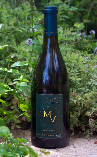 Munselle Vineyards 2010 Shadrach Chardonnay 750ml Wine Bottle