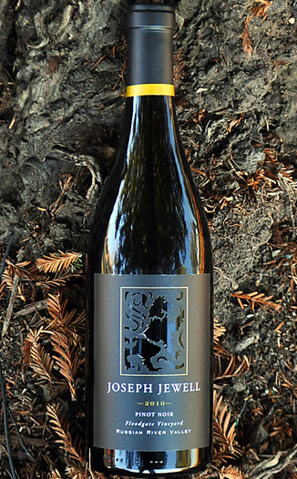 Joseph Jewell Wines 2010 Floodgate Vineyard Russian River Valley Pinot Noir 750ml Wine Bottle