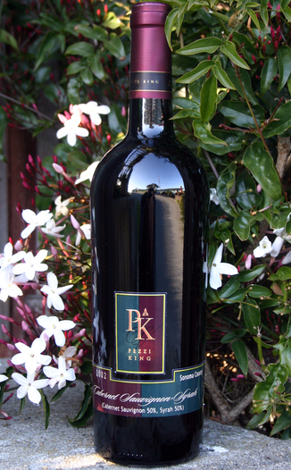 Pezzi King Vineyards 2002 Cabernet Sauvignon/Syrah Blend 750ml Wine Bottle