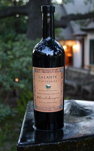Galante Vineyards 2004 Blackjack Pasture Estate Cabernet Sauvignon 750ml Wine Bottle