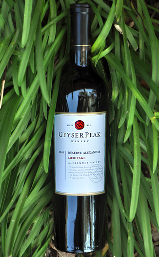 Geyser Peak Winery 2006 Reserve Alexandre Meritage 750ml Wine Bottle