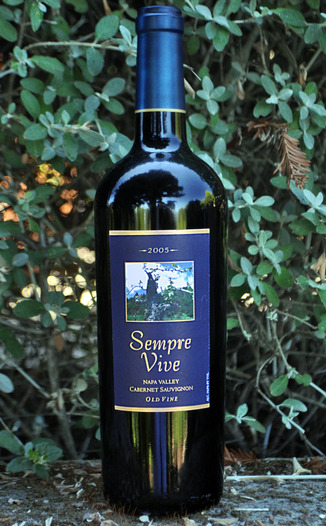 Romeo Vineyards 2005 Sempre Vive Napa Old Vine Cabernet Sauvignon 750ml Wine Bottle