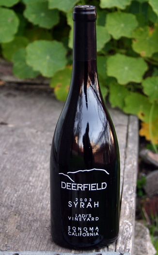 Deerfield Ranch 2003 Ladi's Vineyard Syrah 750ml Wine Bottle