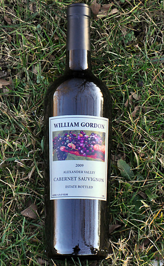 William Gordon Winery 2009 Alexander Valley Estate Cabernet Sauvignon 750ml Wine Bottle