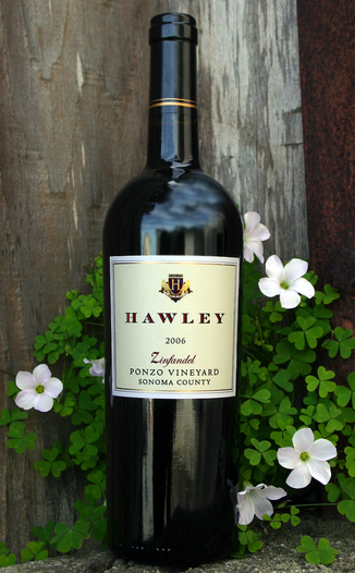 Hawley Winery and Vineyards 2006 Zinfandel 750ml Wine Bottle