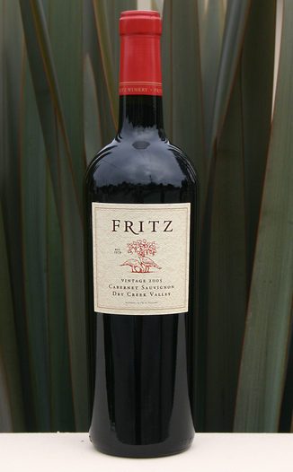Fritz Underground Winery 2005 Cabernet Sauvignon 750ml Wine Bottle