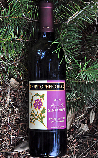 Christopher Creek Winery 2011 Pamela's Zinfandel 750ml Wine Bottle