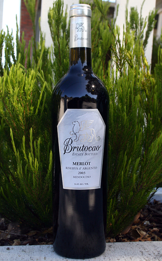 Brutocao Cellars 2003 Riserva d'Argento Merlot 750ml Wine Bottle