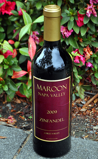 Maroon Wines 2009 Maroon Napa Valley Zinfandel 750ml Wine Bottle