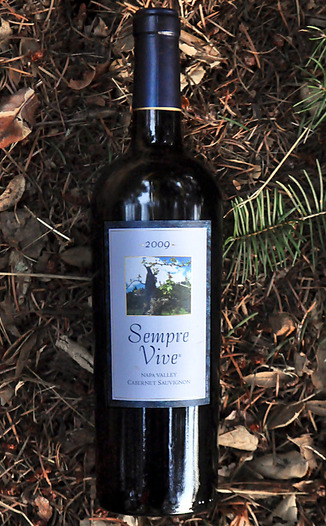 Romeo Vineyards 2009 Sempre Vive Napa Valley Cabernet Sauvignon 750ml Wine Bottle