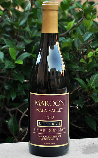 Maroon Wines 2012 Napa Valley Reserve Chardonnay 750ml Wine Bottle