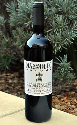 Mazzocco Winery 2010 Dry Creek Valley Cabernet Sauvignon 750ml Wine Bottle