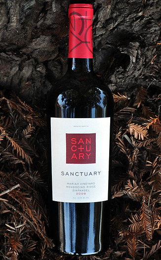 Sanctuary Estates by Fetzer Vineyards 2009 Mariah Vineyard Mendocino Ridge Zinfandel 750ml Wine Bottle