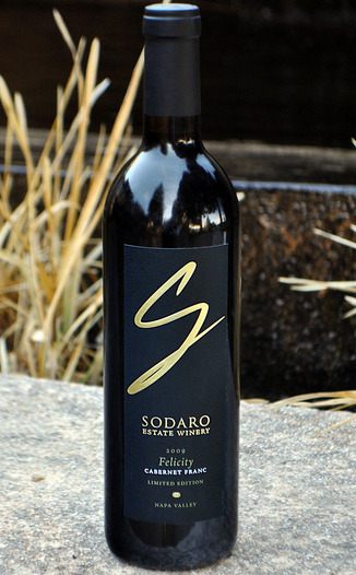 Sodaro Estate Winery 2009 Limited Edition Napa Valley Felicity Cabernet Franc 750ml Wine Bottle