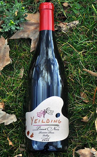 Yeilding Wine 2012 Russian River Valley Pinot Noir 750ml Wine Bottle