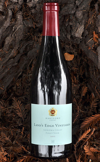 Hartford Family Winery 2012 Land's Edge Vineyards Sonoma Coast Pinot Noir 750ml Wine Bottle