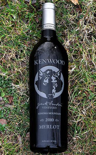 Kenwood Vineyards 2010 Jack London's Vineyard Sonoma Mountain Merlot 750ml Wine Bottle