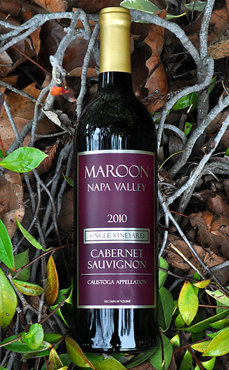 Maroon Wines 2010 Single Vineyard Calistoga Appellation Cabernet Sauvignon 750ml Wine Bottle