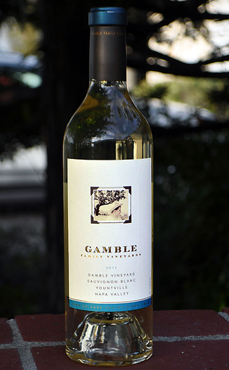 Gamble Family Vineyards 2011 Yountville Sauvignon Blanc 750ml Wine Bottle