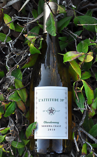 L'Attitude 39 2010 Sonoma Coast Chardonnay 750ml Wine Bottle