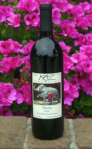 Kaz Winery 2006 Stomp - Merlot 750ml Wine Bottle