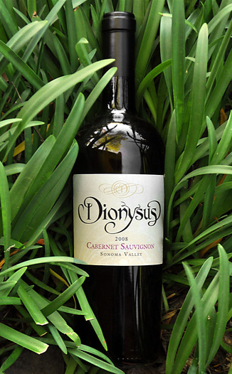 Dionysus Winery 2008 Sonoma Valley Cabernet Sauvignon 750ml Wine Bottle