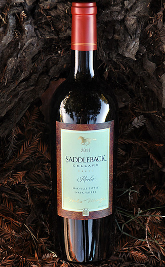 Saddleback Cellars 2011 Oakville Estate Napa Valley Merlot 750ml Wine Bottle
