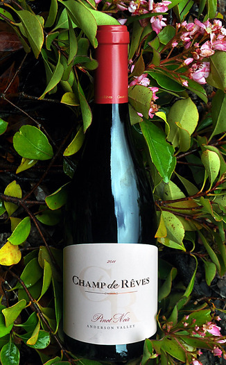 Champ de Reves 2011 Anderson Valley Pinot Noir 750ml Wine Bottle