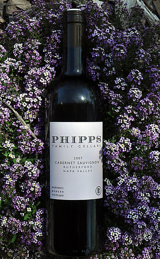 Phipps Family Cellars 2007 Rutherford Napa Valley Cabernet Sauvignon 750ml Wine Bottle