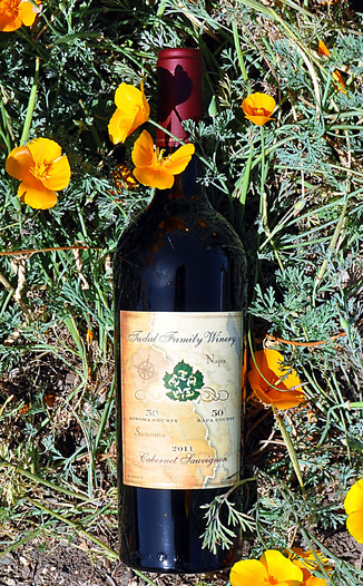 Tudal Family Winery 2011 50/50 Sonoma / Napa Cabernet Sauvignon 750ml Wine Bottle